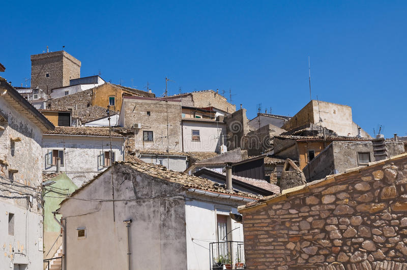 Panoramic view of Deliceto. Puglia. Italy. View of Deliceto. Puglia. Italy royalty free stock photo