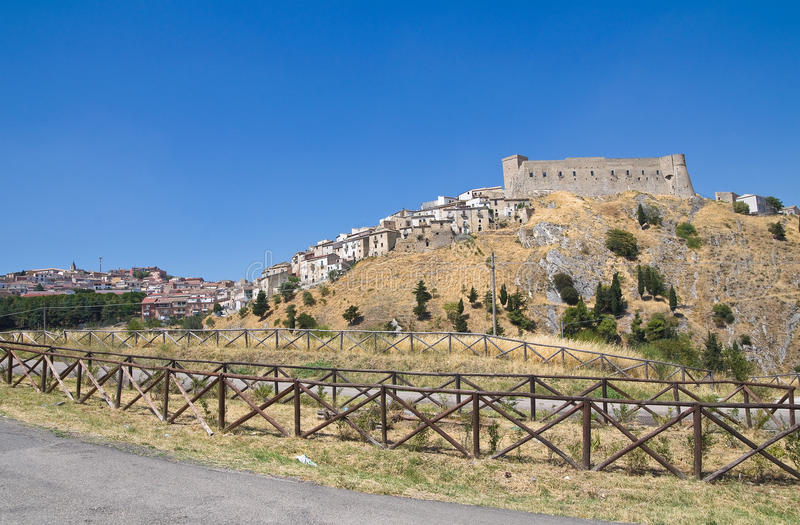 Panoramic view of Deliceto. Puglia. Italy. View of Deliceto. Puglia. Italy royalty free stock photography