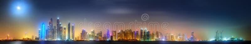 Panoramic view of Dubai Marina bay, Dubai, UAE. royalty free stock photography
