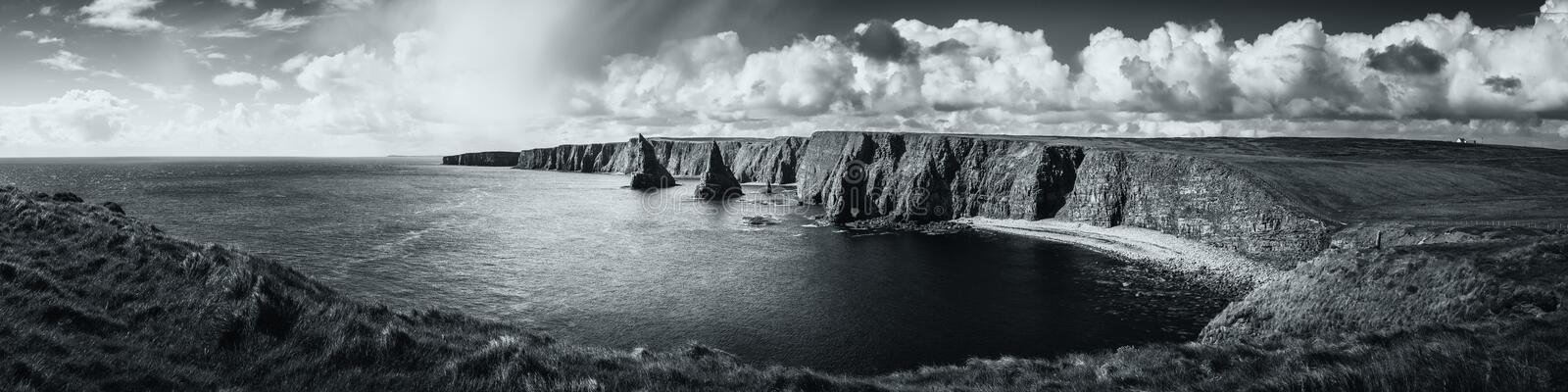 Panoramic view of Duncansby Head in Scotland stock images