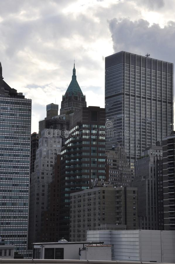 Panoramic View of East Manhattan from New York City in United States royalty free stock image