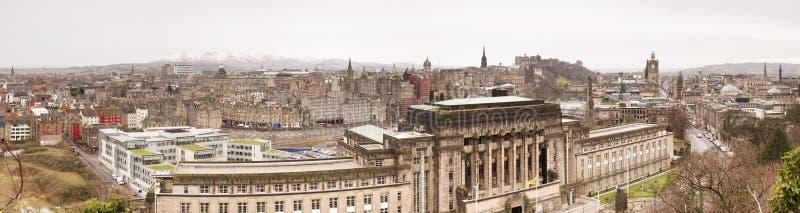 Panoramic View Of Edinburgh Stock Photography