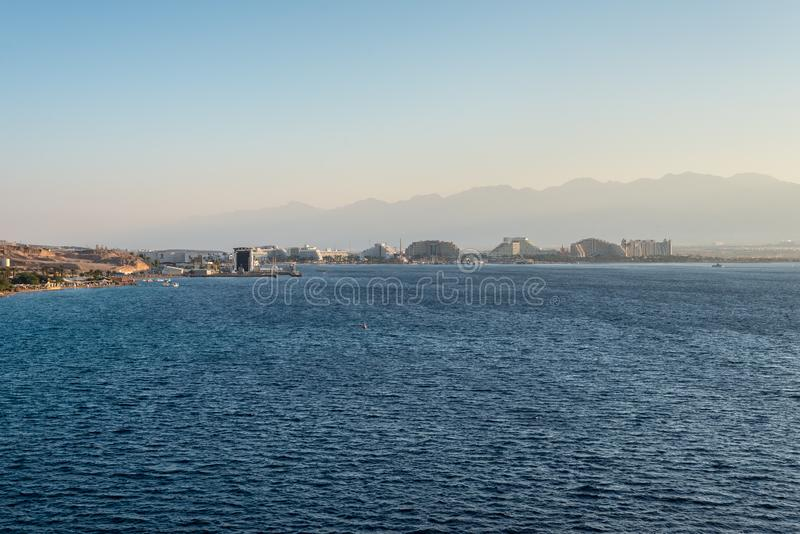 Panoramic view of Eilat, Israel stock photography