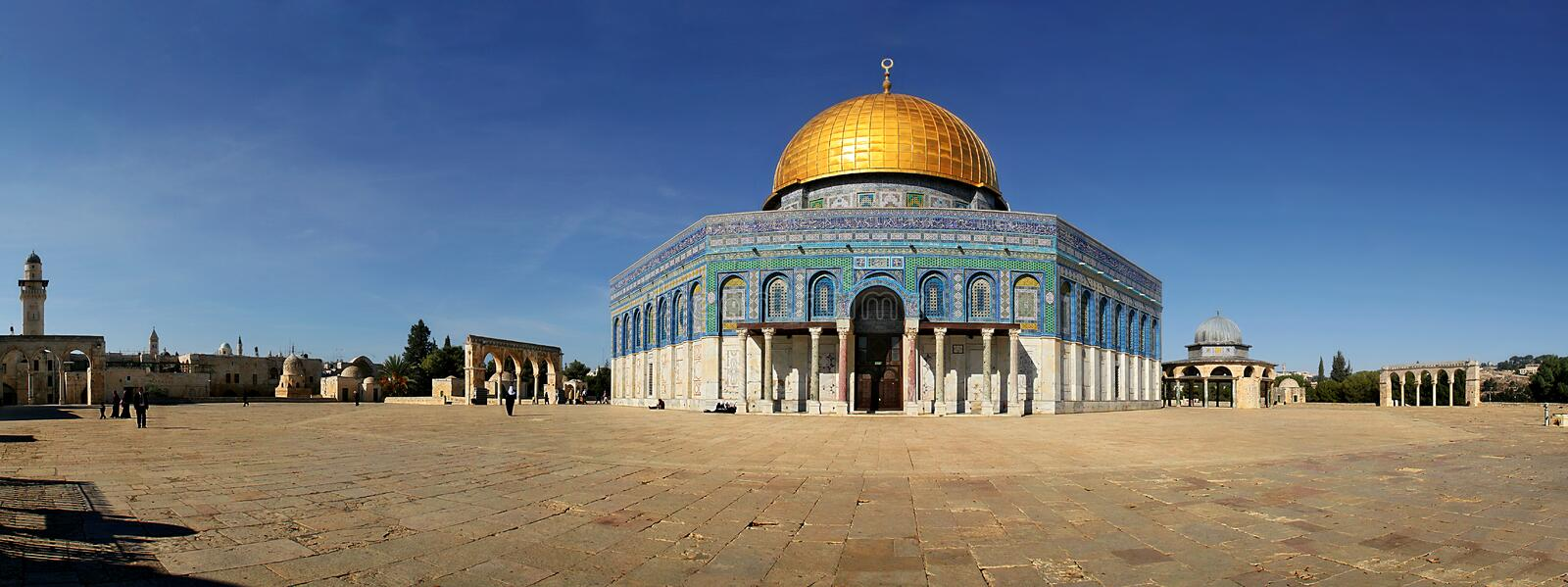 Download Panoramic View Of Famous Mosque In Jerusalem. Stock Photo - Image: 2015098