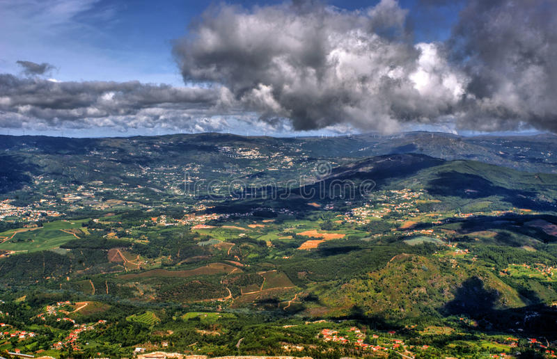 Download Panoramic View Of Farinha Mountain In Mondim De Basto Stock Image - Image of paysage, cloud: 84021949