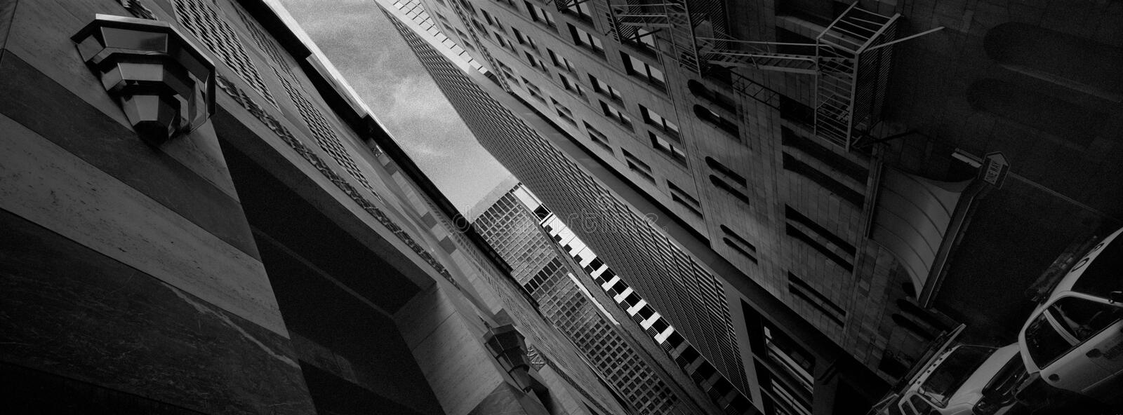 Alley way in downtown Los Angeles, Financial District stock photo