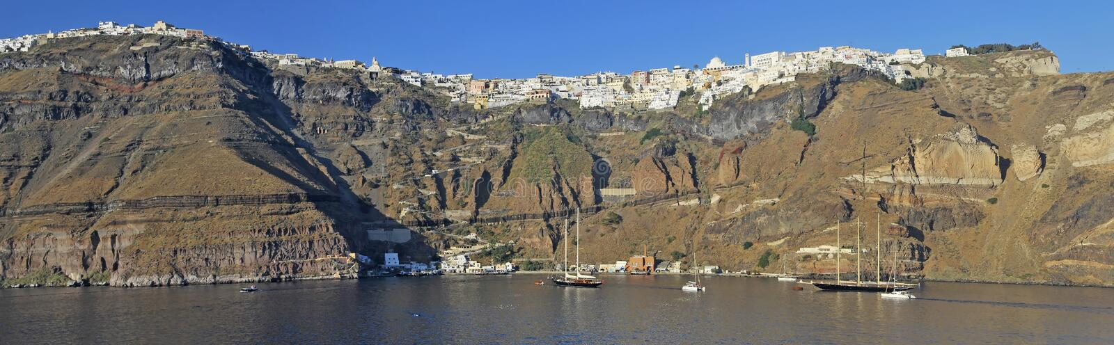 Download Panoramic view of Fira stock photo. Image of europe, christian - 26871042