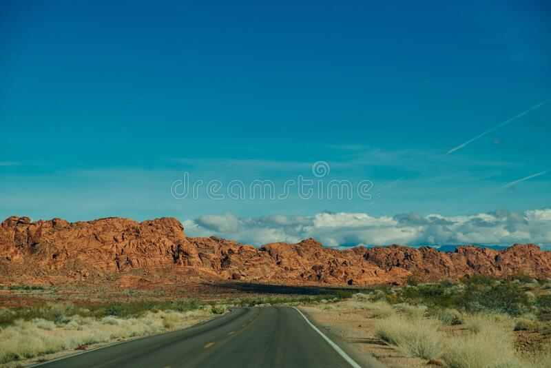 Panoramic view of Fire Canyon Silica Dome in Valley of Fire State Park, Nevada United States.  stock photos