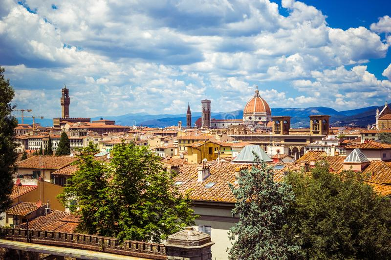 Panoramic view Florence Firenze, Tuscany, Italy royalty free stock photo