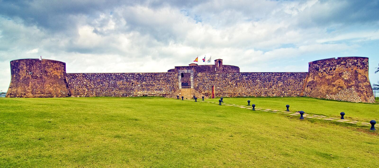 Panoramic View Of Fortress Royalty Free Stock Photo