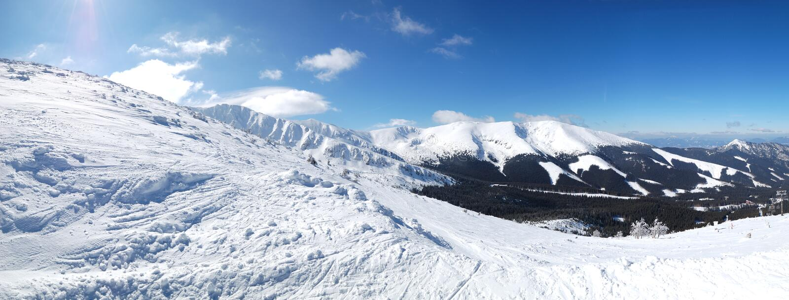Download Panoramic View On Free Ride Area In Jasna Stock Photo - Image: 26050814