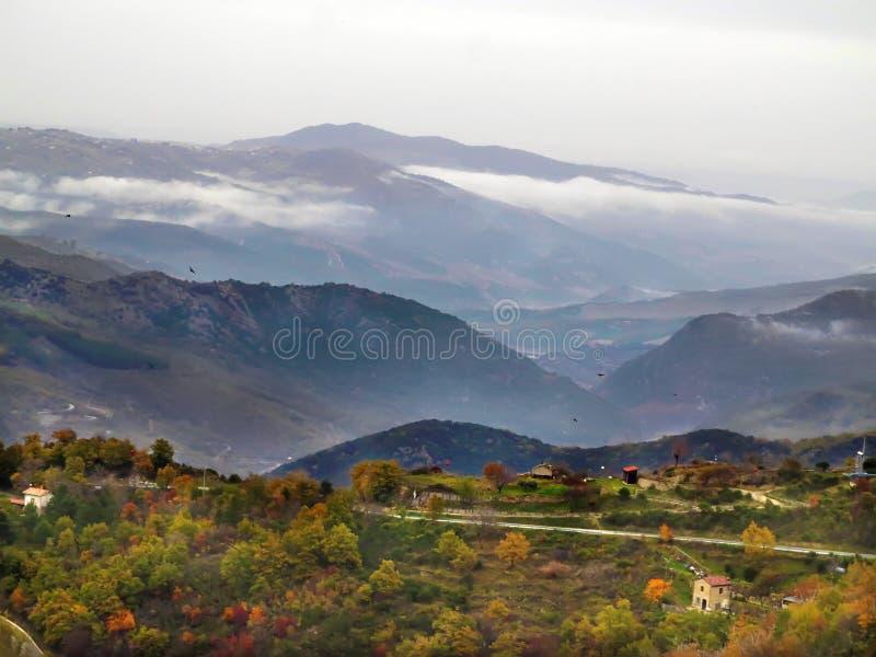 Panorama from Frigento, Avellino, Italy. Panoramic view from Frigento, Avellino, Italy stock photo