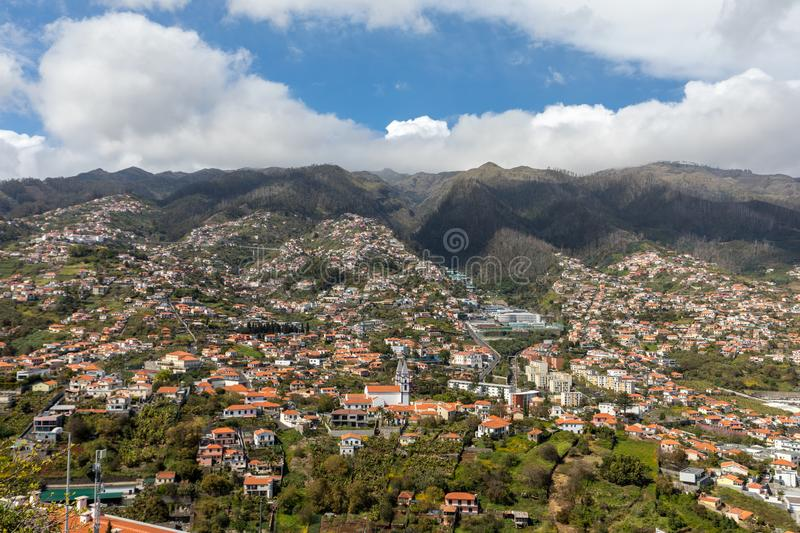 Panoramic view of Funchal on Madeira Island. royalty free stock photo