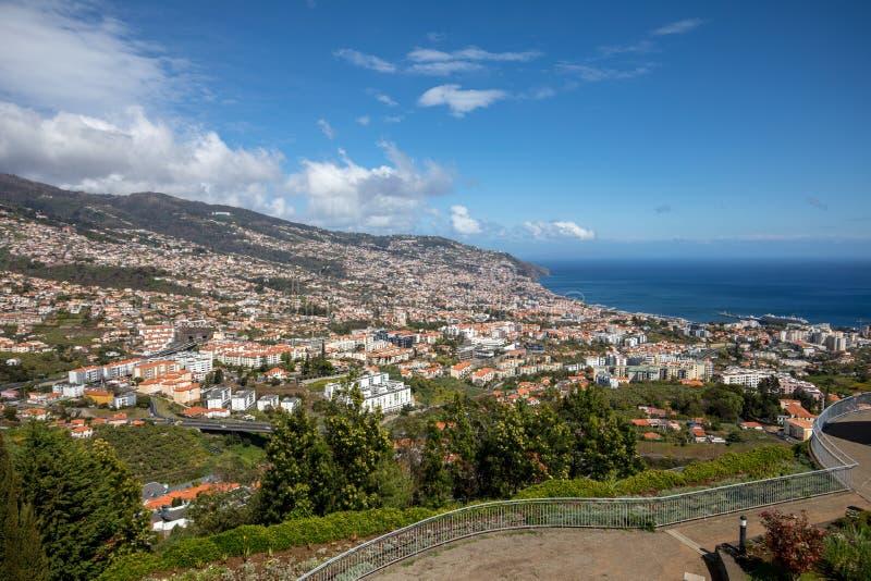 Panoramic view of Funchal on Madeira Island. stock image