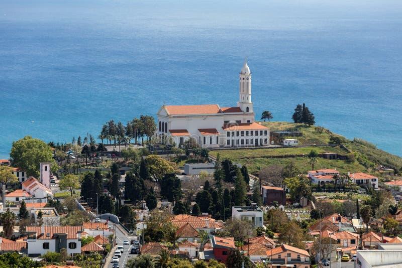 Panoramic view of Funchal on Madeira Island. stock photo