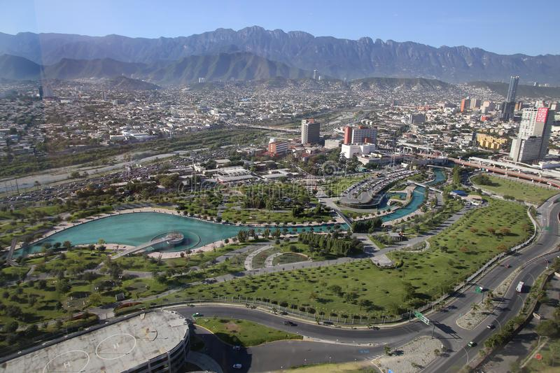Panoramic view of fundidora park in monterrey, mexico. Fundidora park photo talen from one of the talles buildings in monterrey. Fundidora is one of the many stock photos