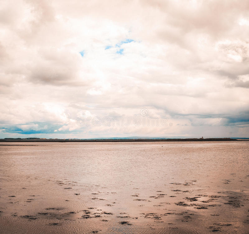 Panoramic view of the Galway bay stock images