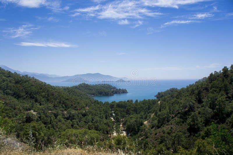 Panoramic View of Gemiler Island stock photo