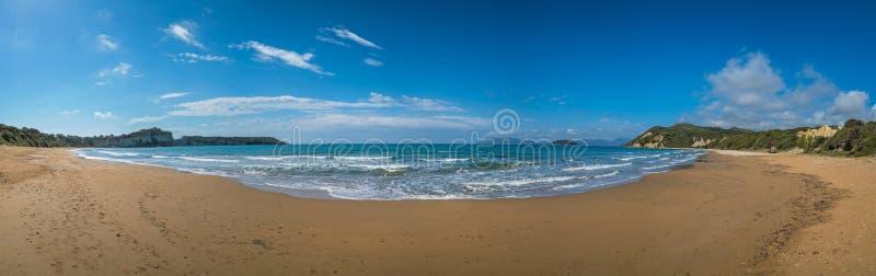 Gerakas beach panorama stock image