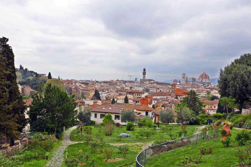 Giardino delle rose Florence stock image