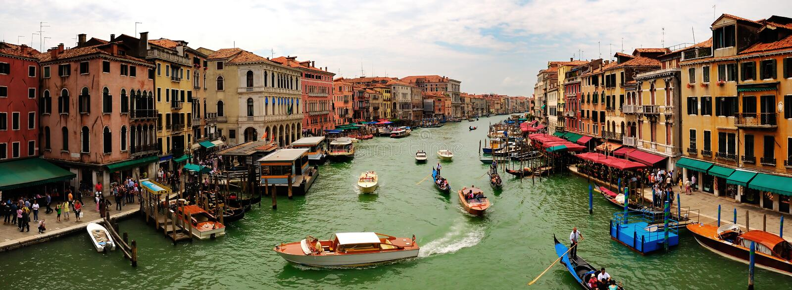 Panoramic view of the Grand Canal stock images