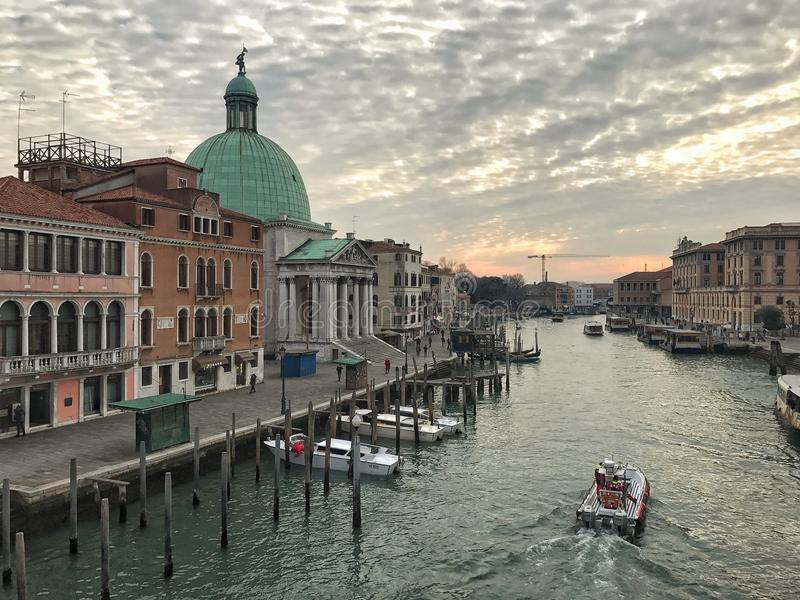 Panoramic View of Grand Canal, Venice, Italy royalty free stock image