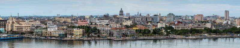 Panoramic view on Havana, Cuba stock photos