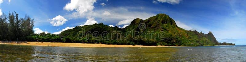 Panoramic view in Hawaii stock photo