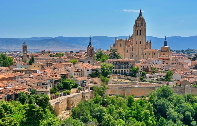 Segovia, Spain. Panoramic view in the historic city of Segovia, Spain