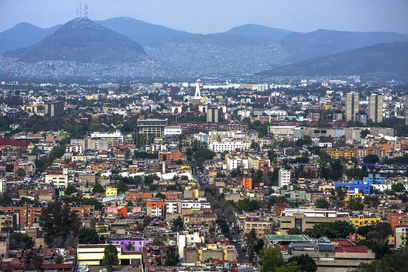 Panoramic view of historical building in Mexico City. Mexico royalty free stock photography