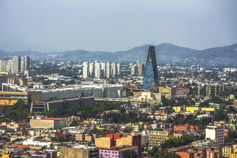 Panoramic view of historical building in Mexico City. Mexico stock photo