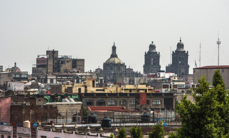 Panoramic view of historical building in Mexico City. Mexico royalty free stock images