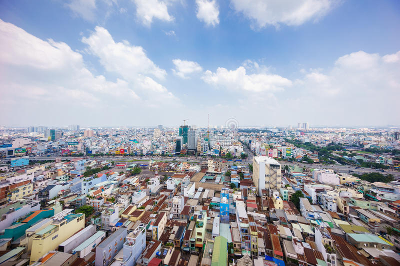 Panoramic view of Ho Chi Minh city, Vietnam. stock photography