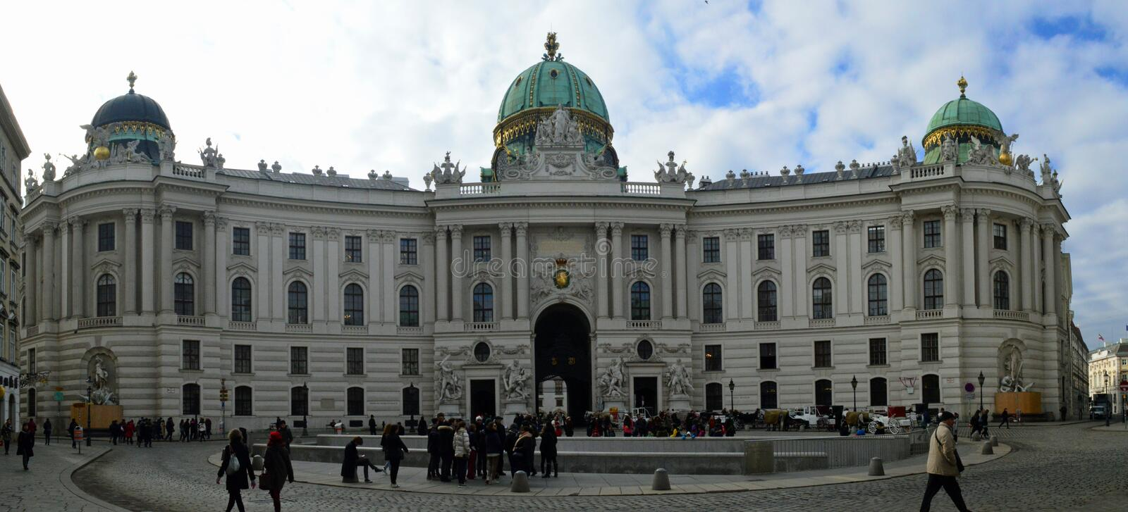 Panoramic view of Hofburg Palace royalty free stock photos