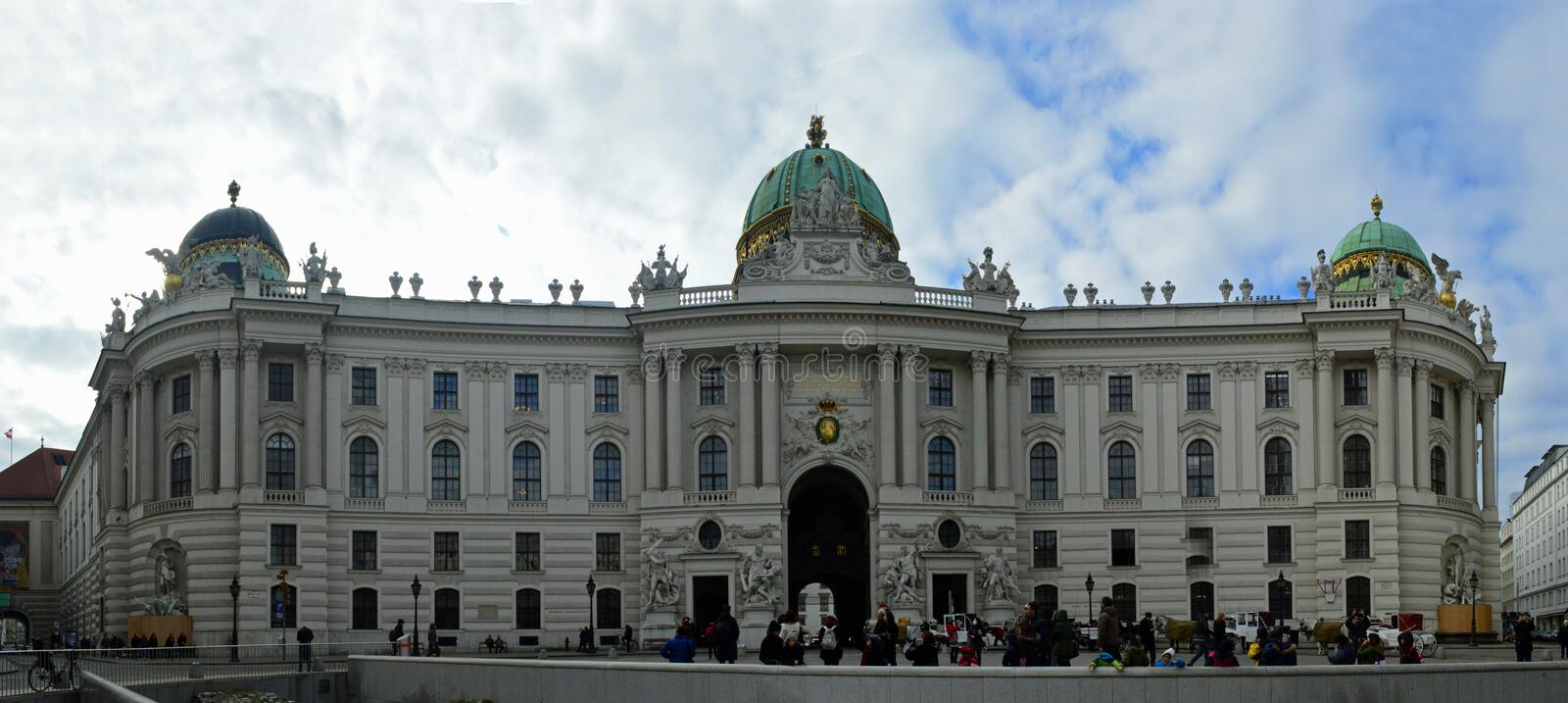 Panoramic view of Hofburg Palace royalty free stock images