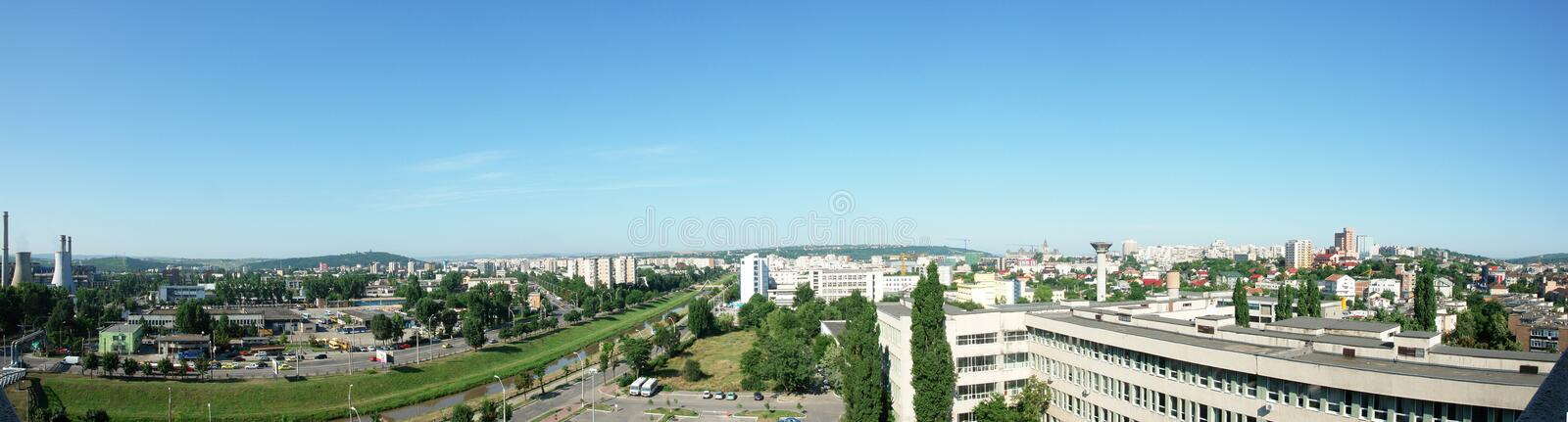 Panoramic view of Iasi city with Bahlui river royalty free stock photos