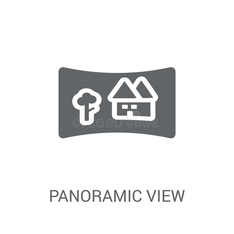 Panoramic view icon. Trendy Panoramic view logo concept on white royalty free illustration
