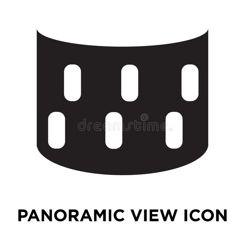 Panoramic view icon vector isolated on white background, logo co royalty free illustration