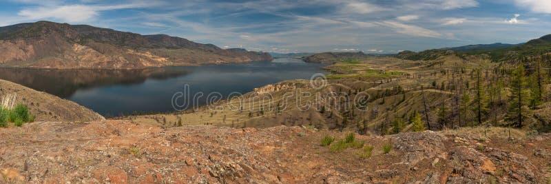 Panoramic view of Kamloops Lake in Canada. A panoramic view of Kamloops Lake in Canada royalty free stock image