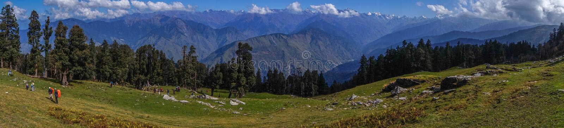 Panoramic view from Kedakantha Trek royalty free stock photos