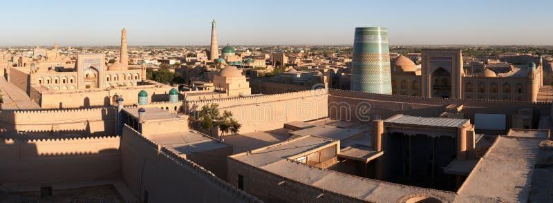Panoramic view of Khiva - Uzbekistan royalty free stock photos