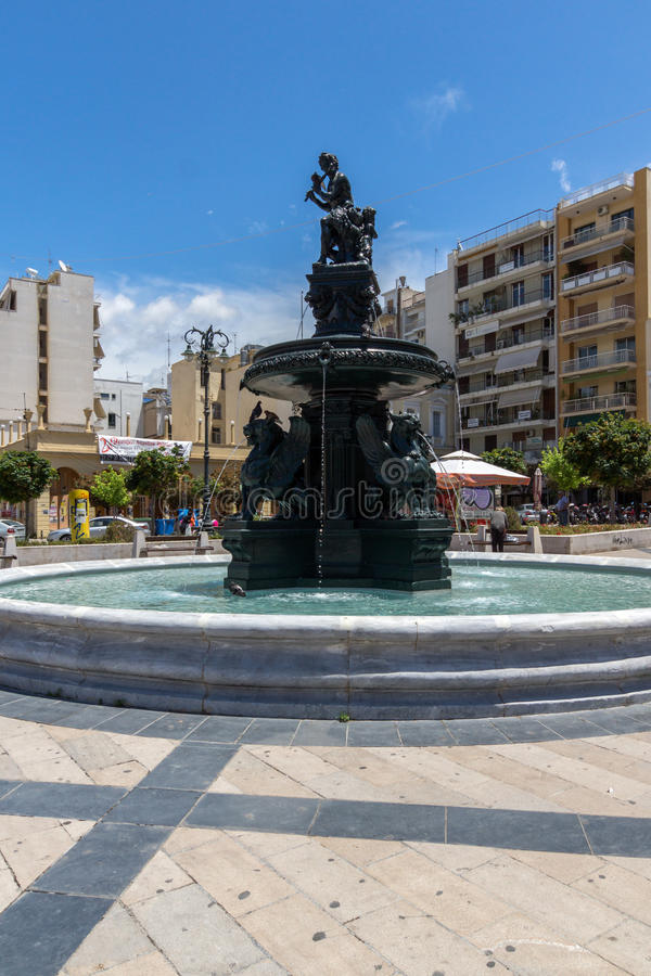Panoramic view of King George I Square in Patras, Peloponnese, Greece. Panoramic view of King George I Square in Patras, Peloponnese, Western Greece stock photo