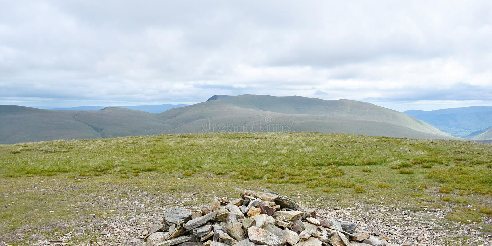View from Knott summit cairn, Lake District stock images