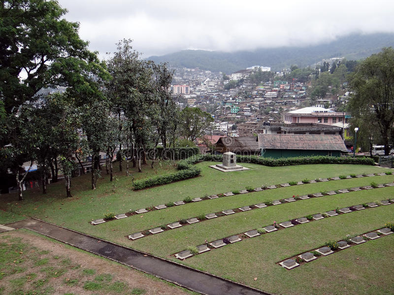 Panoramic view of Kohima town, Nagaland from world war symmetry. The Panoramic view of Kohima town, the capital of Nagaland from world war symmetry. The nearest royalty free stock photos
