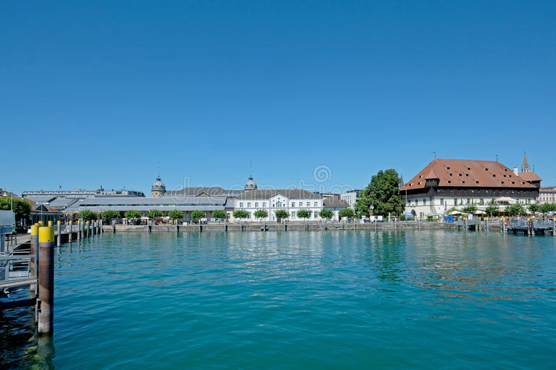 Panoramic view of Konstanz old town and port, Germany stock image