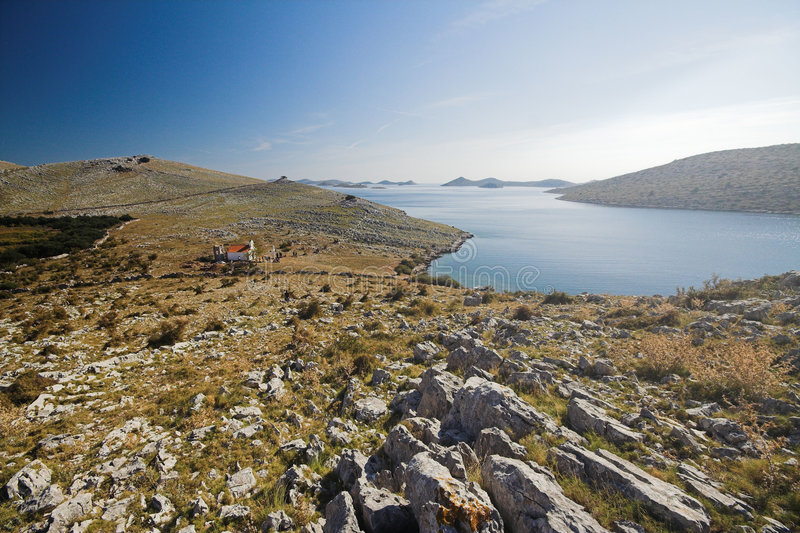 Panoramic view of Kornati royalty free stock image