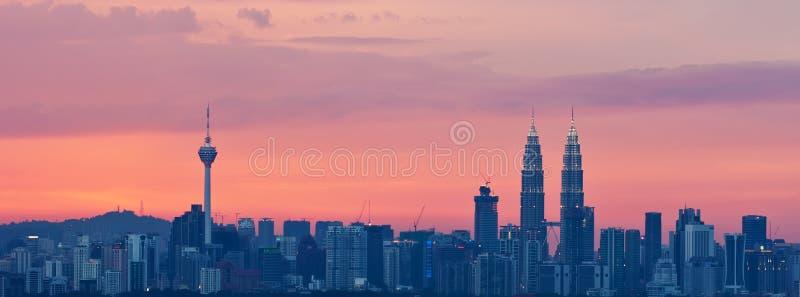 Download Kuala Lumpur cityscape stock illustration. Illustration of panoramic - 30083284