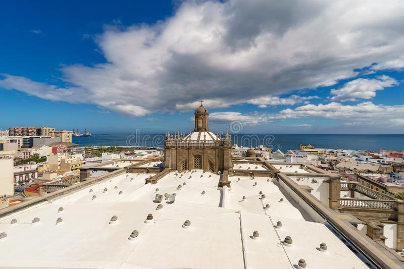 Panoramic view of Las Palmas city, Gran Canaria, Spain. Panoramic view of Las Palmas city from the Cathedral of Santa Ana, Gran Canaria, Canary islands, Spain stock photo