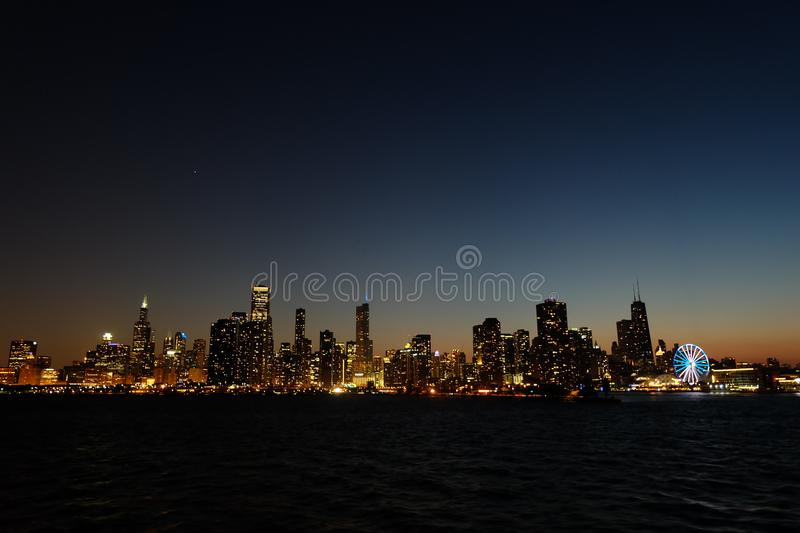 Panoramic View Of Lighted City At Night Free Public Domain Cc0 Image