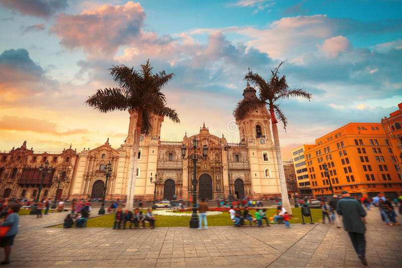 Panoramic view of Lima stock image